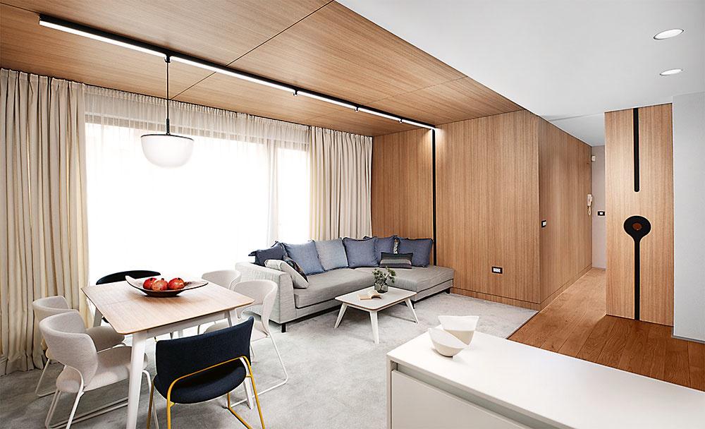 drevené obklady v izbe