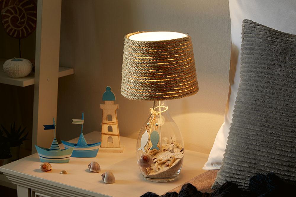 Ako zhotoviť lampu vnámorníckom štýle?