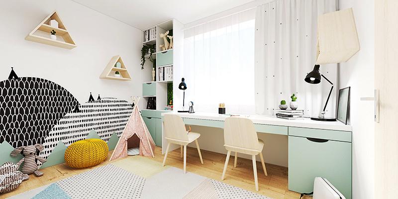 Menšia paneláková izba pre tri sestry s množstvom svetla a úložných priestorov