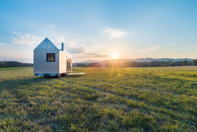 Energeticky sebestačný mobilný dom ponúka plnohodnotné bývanie