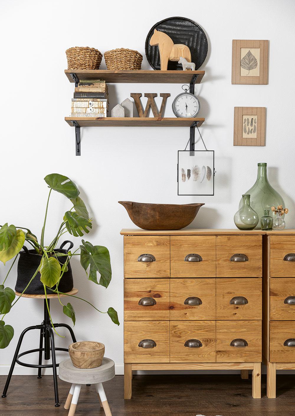 drevené skrinky