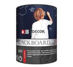 Farba na písanie DECOR Blackboard paint je výborným podkladom na písanie kriedou aj na jej zotieranie. Nanáša sa jednoducho len v dvoch vrstvách. Vo finále stena nadobudne matný povrch, odolný proti mokrému oderu. Farba je zároveň šetrná k životnému prostrediu, pretože má nízku emisiu prchavých organických zlúčenín do prostredia. Balenie 0,65 l, cena na vyžiadanie, www.jub.sk