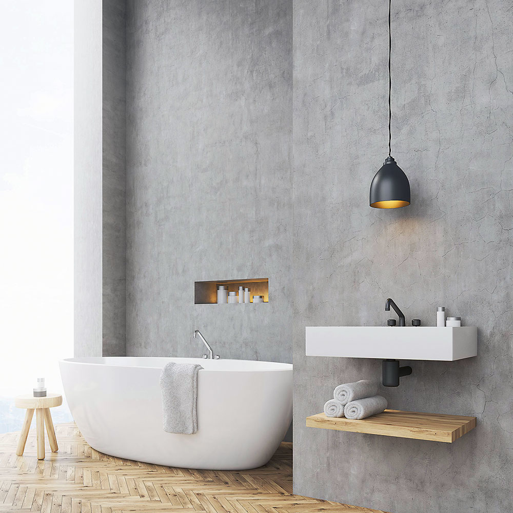 Industriálne ladená kúpeľňa