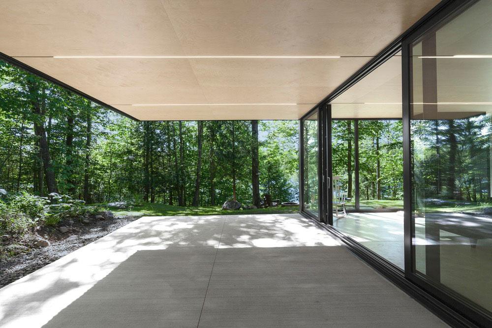 zakrytá terasa