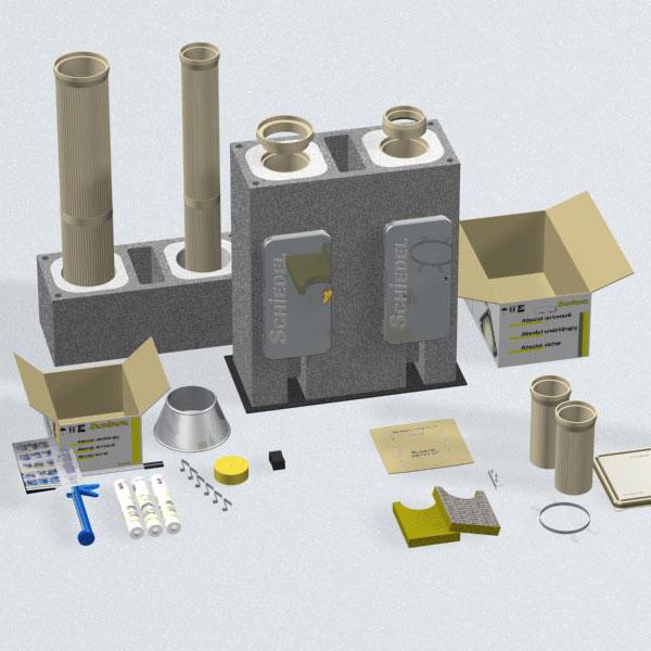 Komínový systém pre kondenzačné kotly