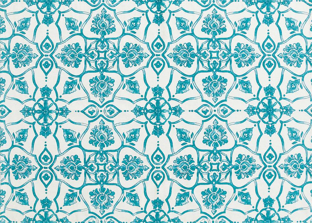 Koberec s tyrkysovým vzorom, 100 % bavlna, 140 × 200 cm, 69,99 €, www.hm.com/sk