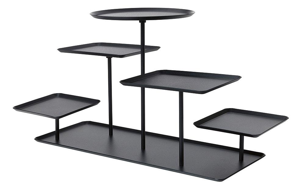 Čierny stojan SAMMANHANG, oceľ, epoxidová prášková vrstva, 55 × 23 × 29 cm, 19,99 €, IKEA