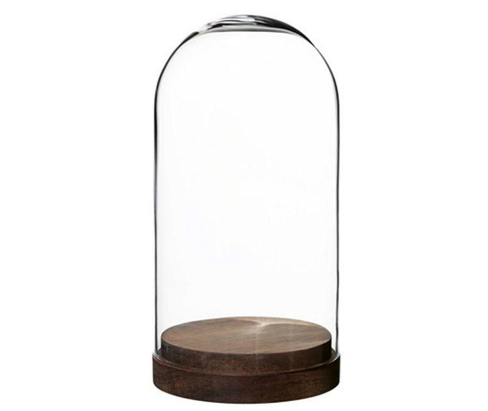 Dekoračný kryt HÄRLIGA, sklo, drevo z akácie, výška 27 cm, priemer 14 cm, 12,99 €, IKEA