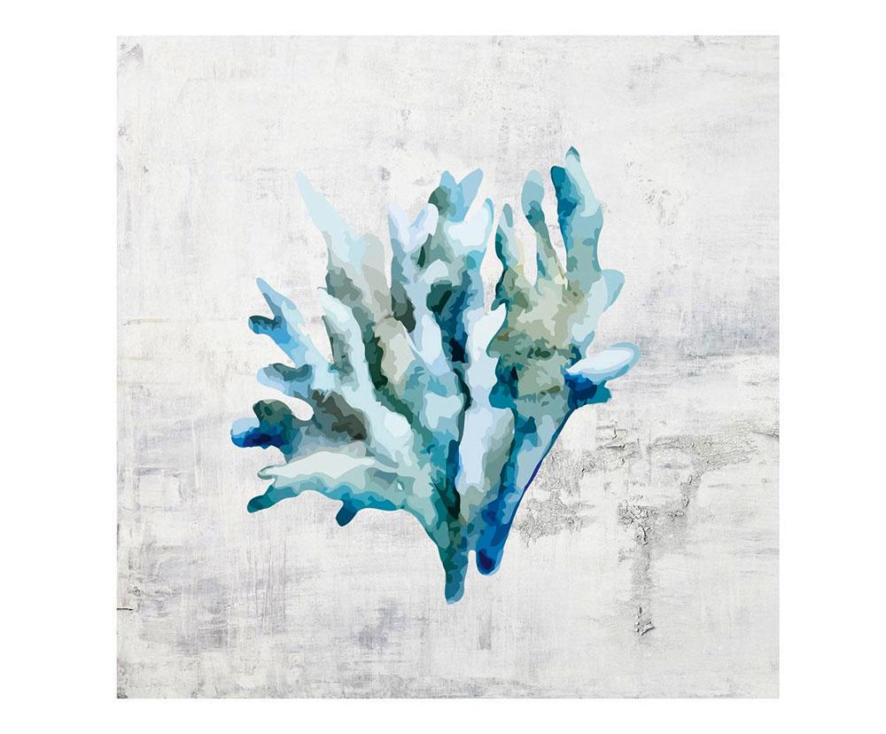 obraz – digitálna tlač na plátne smotívom koralu,  40 × 40 cm, 37 €, www.westwing.sk