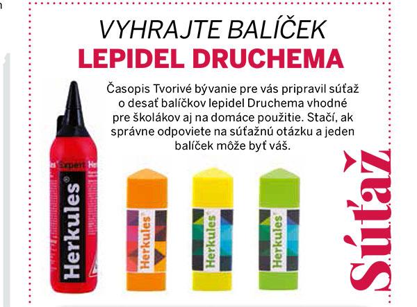 SÚŤAŽ – Vyhrajte balíček lepidel Druchema