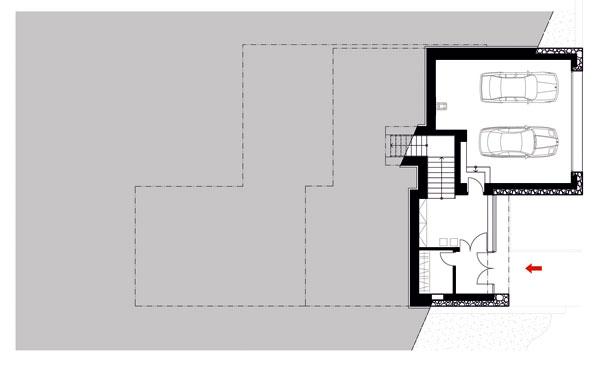 Dom od autorizovaného staviteľa postavený do svahu