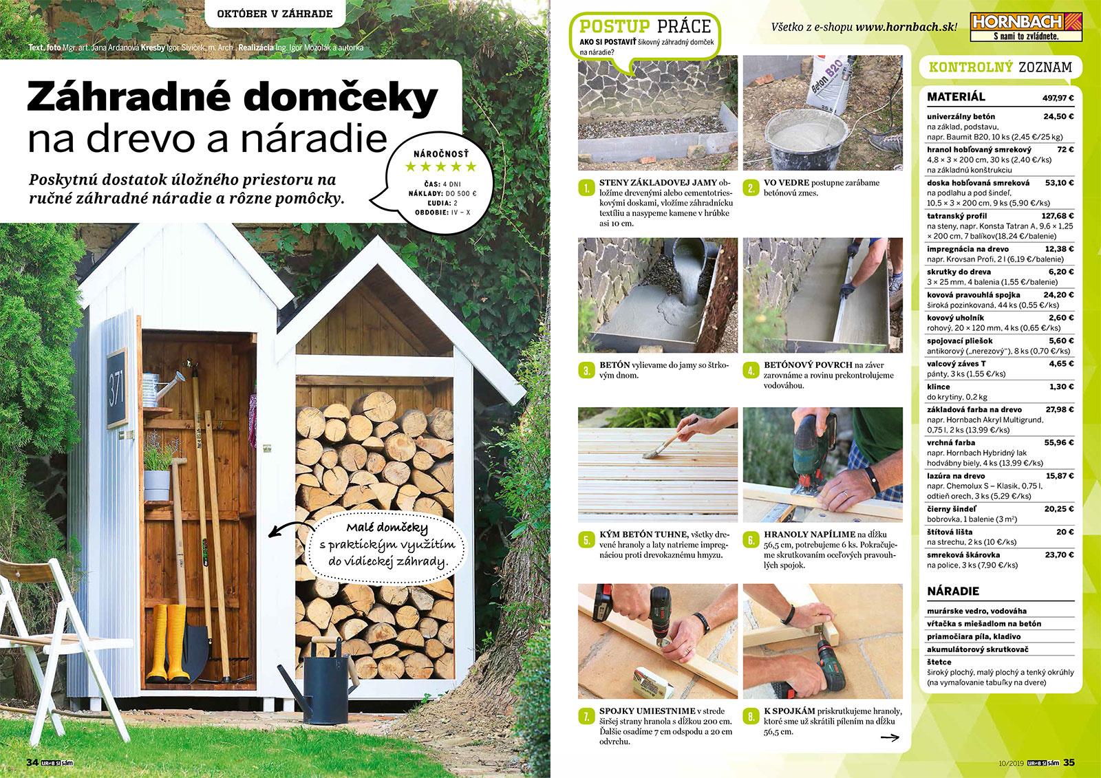 Októbrové vydanie Urob si sám je v predaji! Záhradný domček na náradie a drevárnička