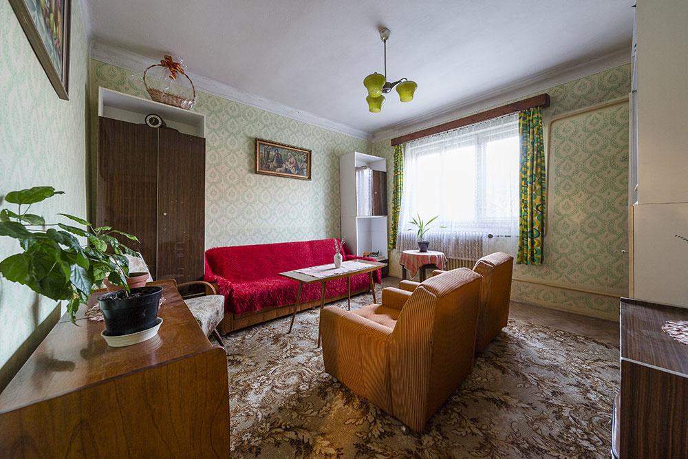 Obývačka pred rekonštrukciou