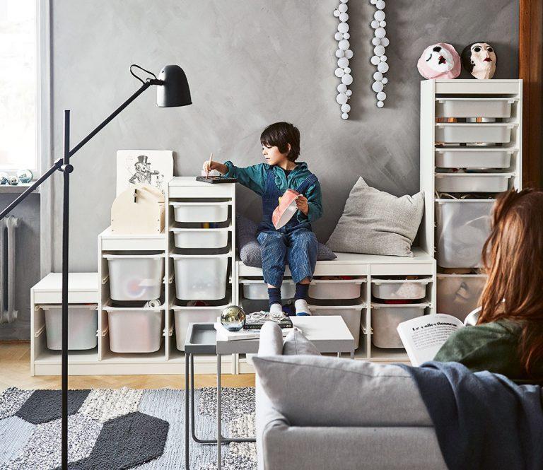 Ako zútulniť obývaciu izbu, ktorá funguje zároveň ako detská herňa