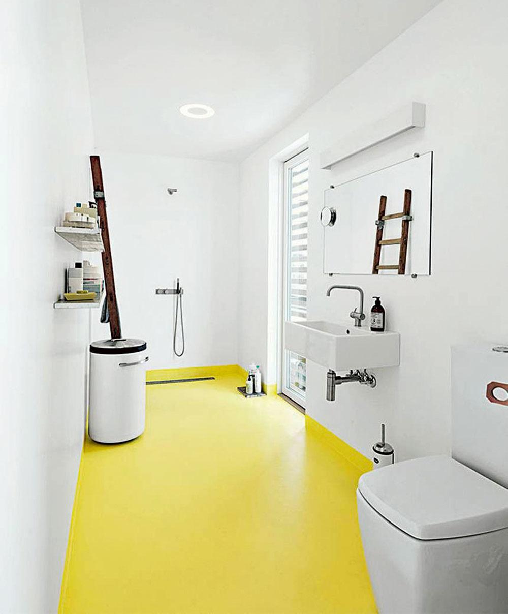Liata (polyuretánová) podlaha v kúpeľni