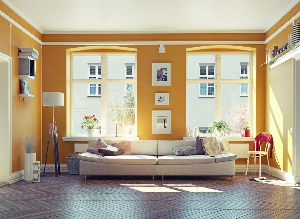 okrová farba v interiéri