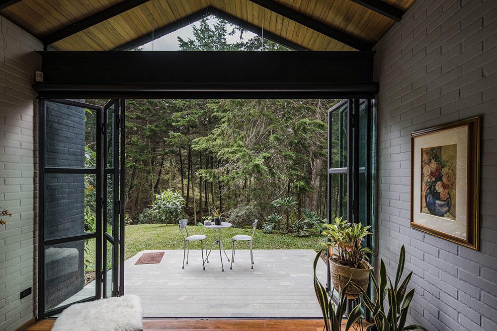 pohľad na terasu domu Ortega Mora House