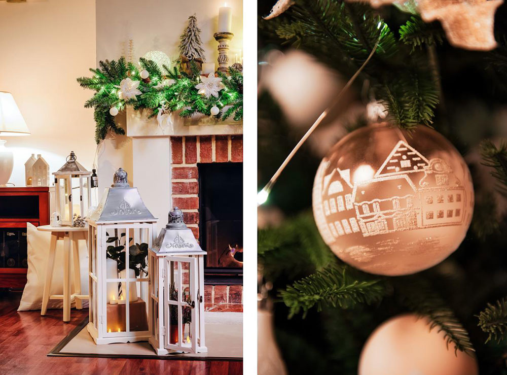 Milovníkov tradície potešia klasické drevené lampáše aj ručne maľované sklenené ozdoby na stromček.