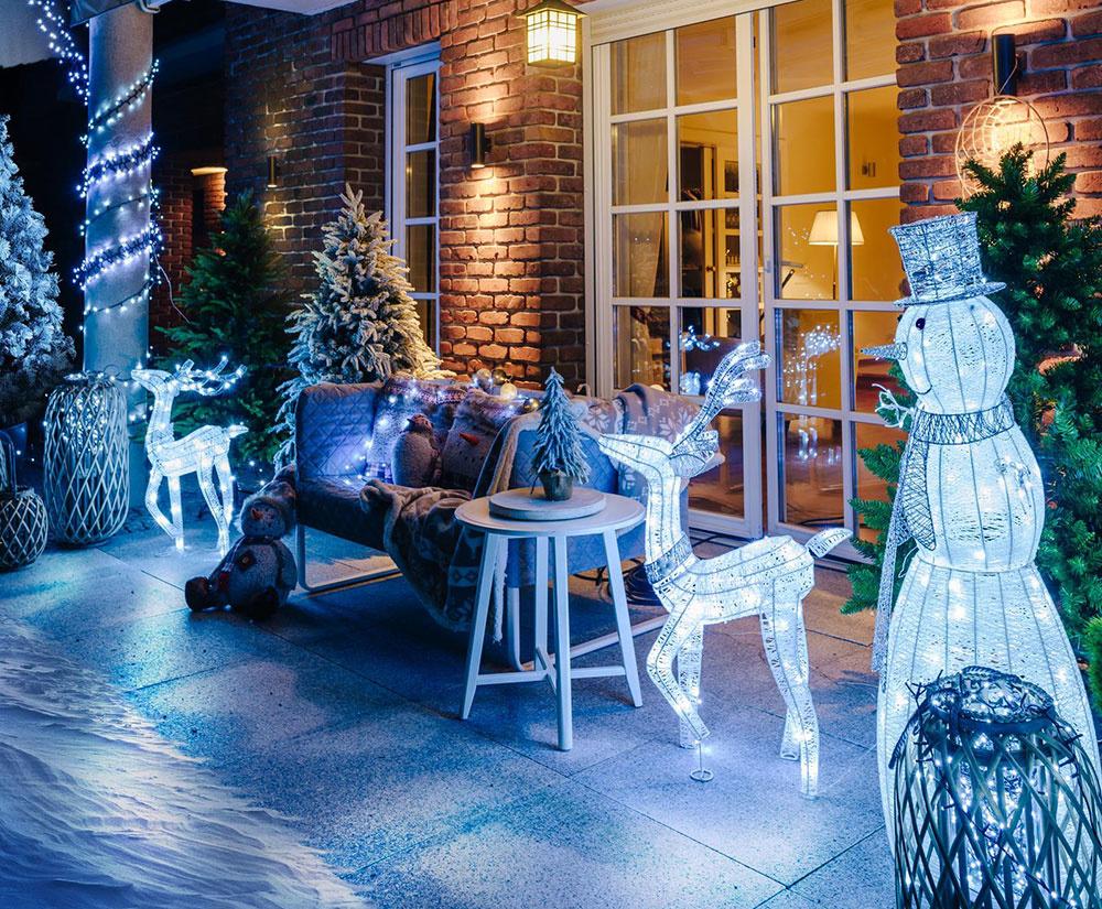 Vonkajšie svetelné LED figúrky vytvoria v okolí vášho domu skutočne magickú vianočnú atmosféru.