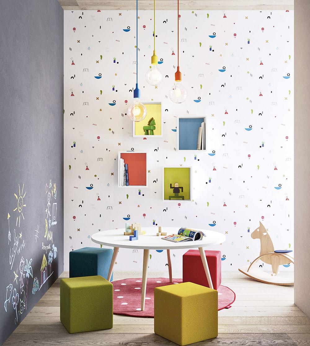 STENA NATRETÁ tabuľovou farbou je efektný interiérový prvok, ktorý vám ušetrí mnoho nervov – väčšina drobcov radšej kreslí po stene než po papieri. Takto budú mať na svoju kreativitu vyhradené miesto.
