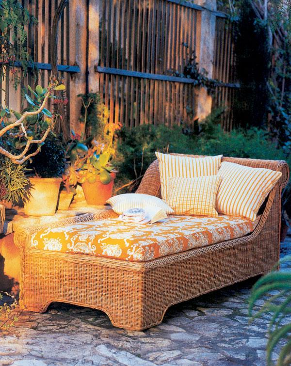 Materiály na nábytok do záhrady