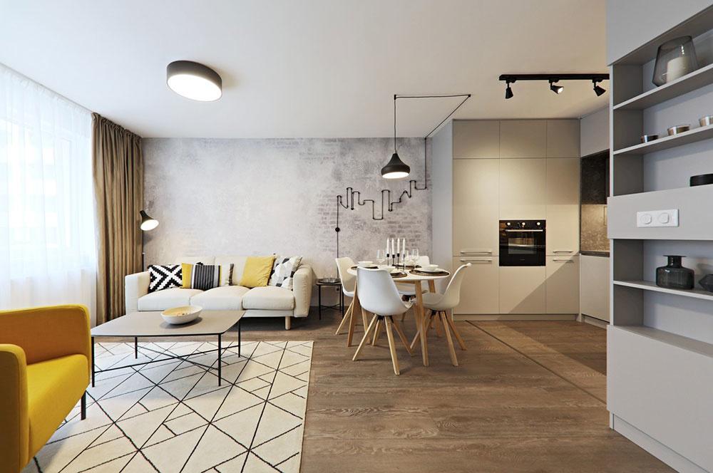 Pánsky dvojizbový byt v industriálnom štýle