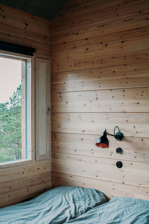 spáľňa v chate Ö s terasou