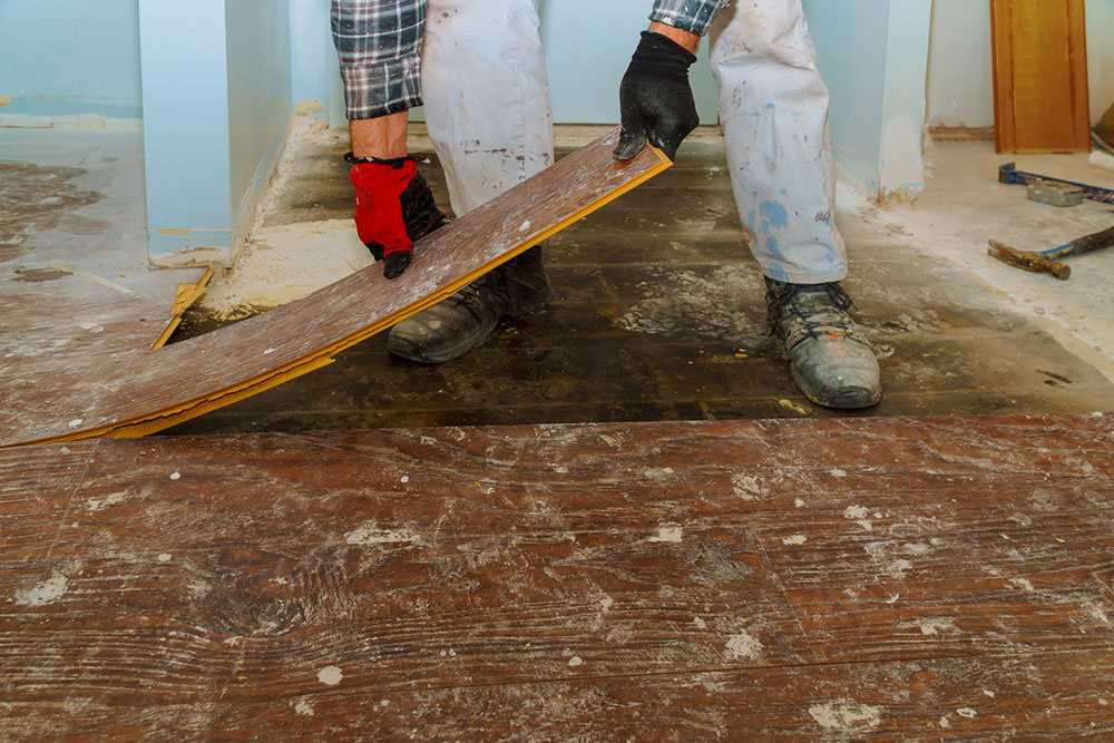 výmena podlahy v byte