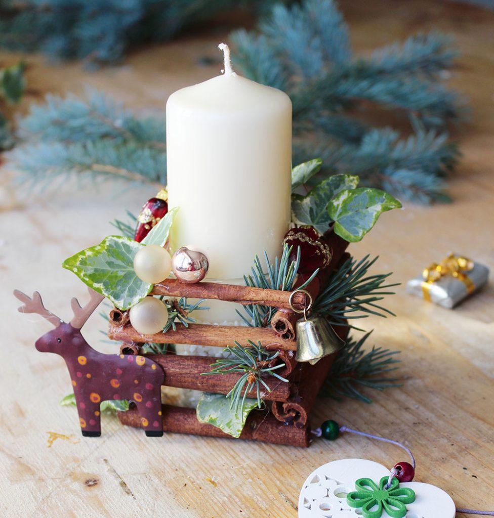 Voňavý vianočný svietnik