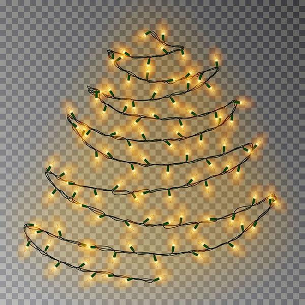 vianočný stromček zo svetielok