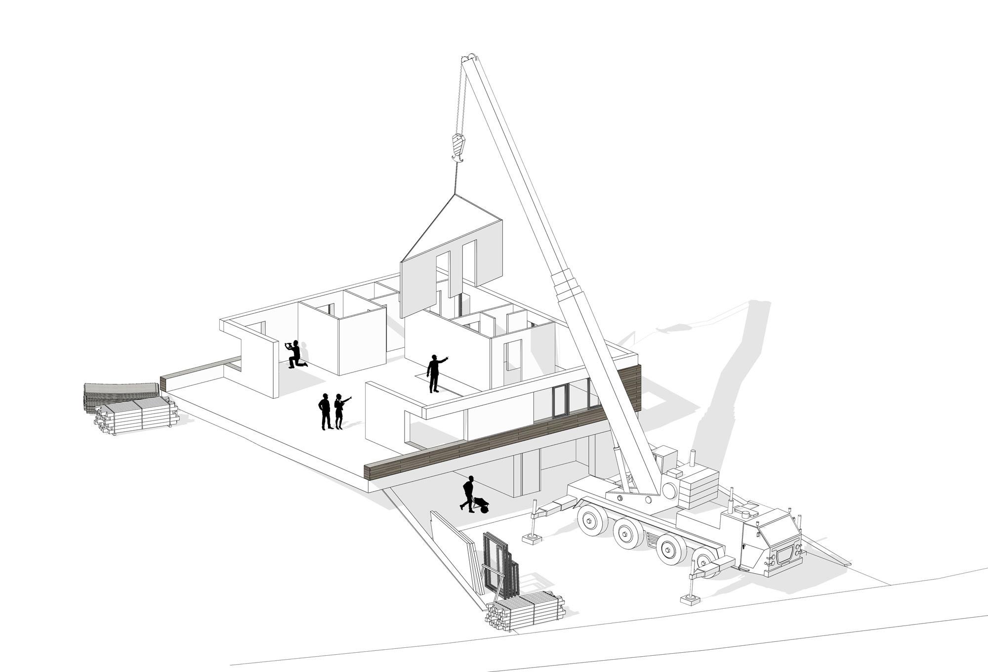 Drevený bungalov z prefabrikátov