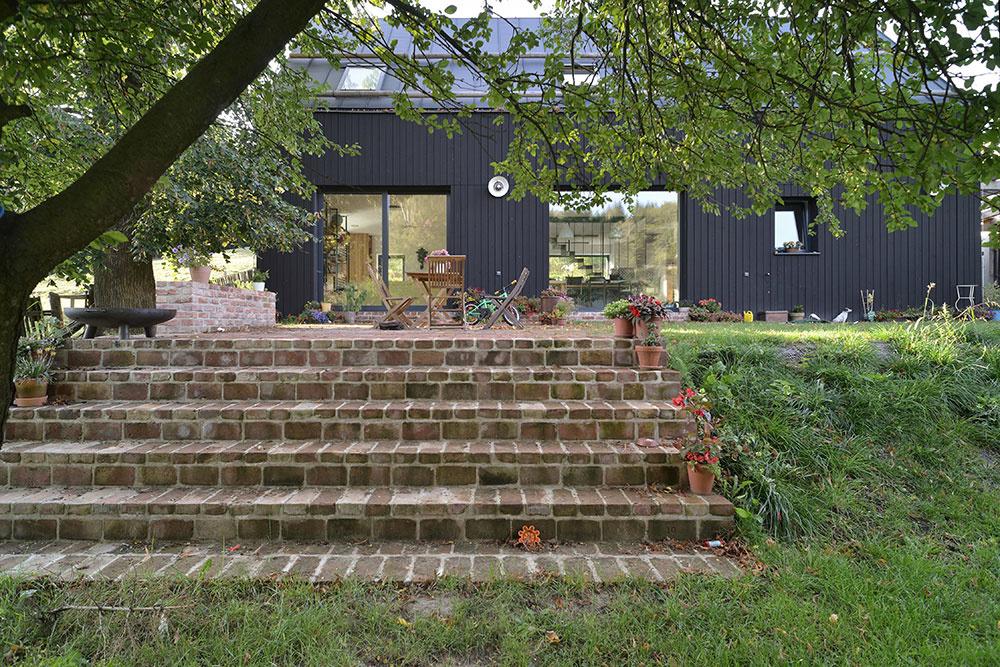 schody s terasou