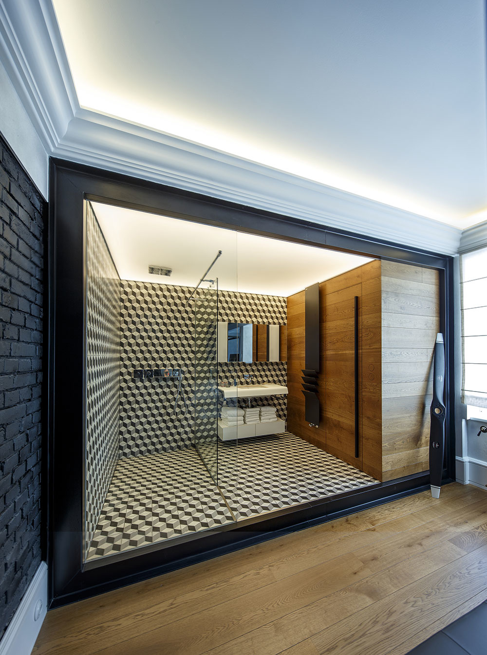 V hale architekti použili dlažbu s 3D efektom