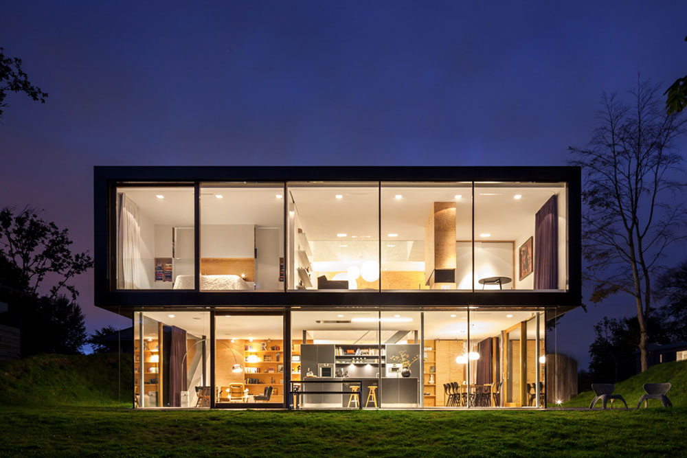 presklenná fasáda domu