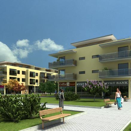 Jantár Jarovce podľa plánu – aktuálne s dokončenou hrubou stavbou