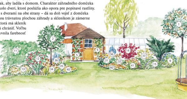 Záhrada pre oranžový domček