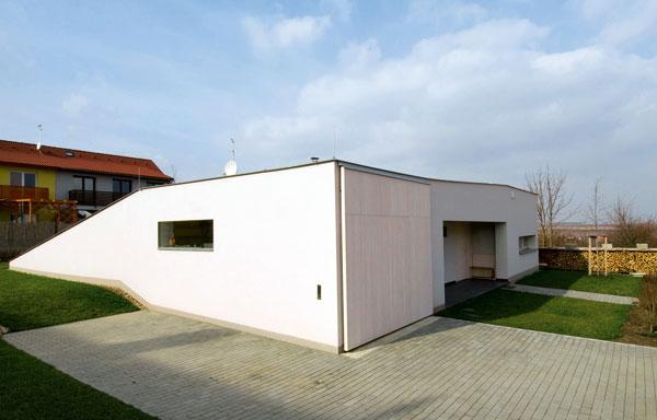 Dom, ktorý jeho autori príznačne nazvali Slimák