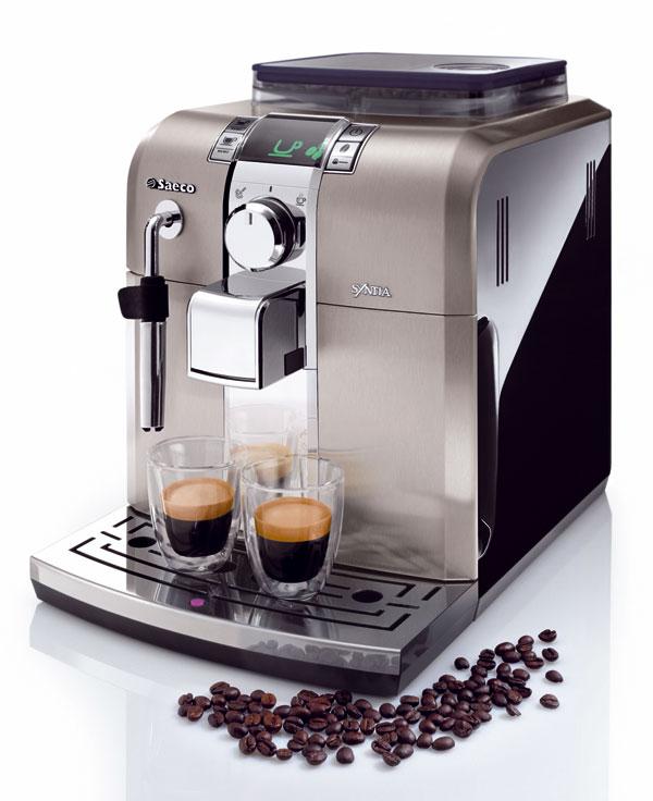 Automatický kávovar Saeco Syntia od firmy Philips. Cena od 688,50 €