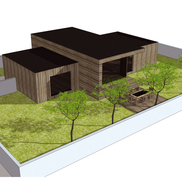 Nízkoenergetický dom pre mladú rodinu