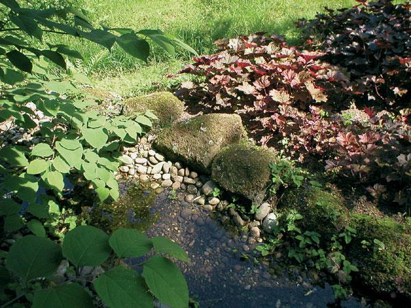 Potôčik v záhrade