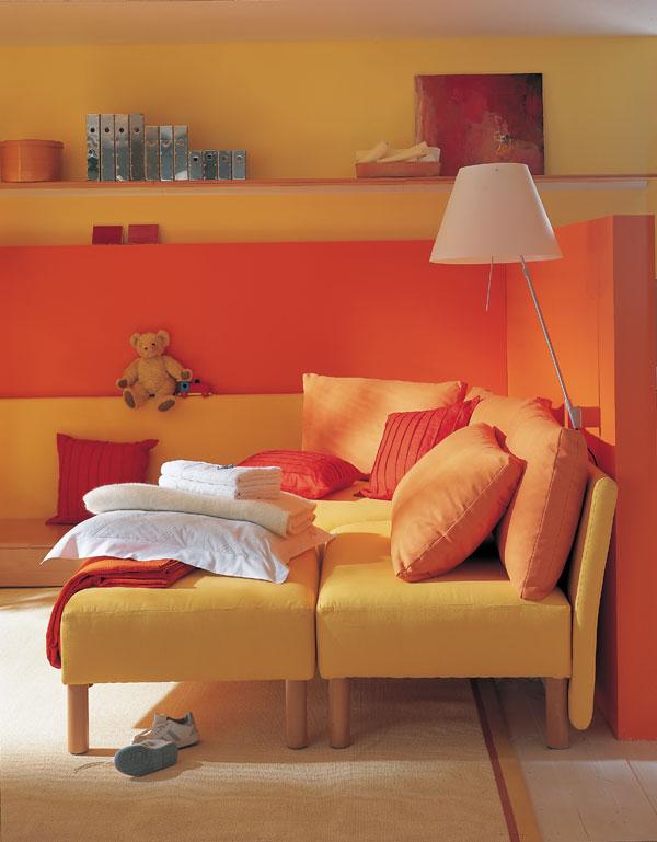 Miesto pre hostí v malej obývačke