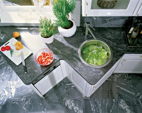 Materiály kuchynských pracovných plôch