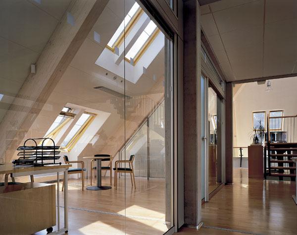 Zasklené plochy a pohoda v podkroví