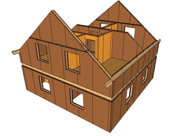 Panelový konštrukčný systém drevených stavieb