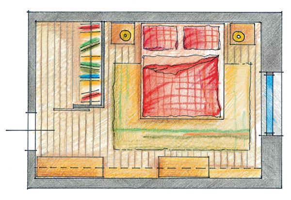 Šatník v spálni