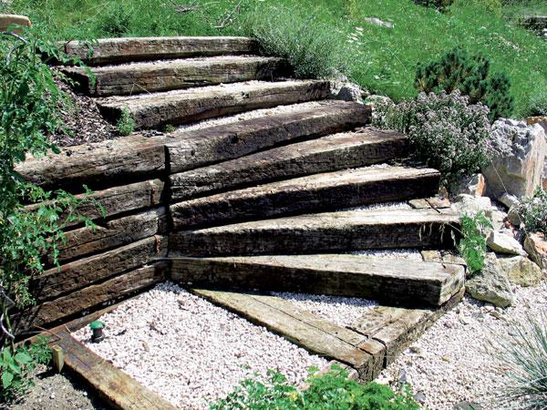 Plán záhrady, stavebné prvky v záhrade