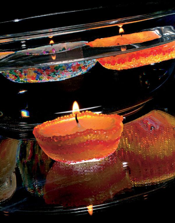 Pestrofarebné sviečočky