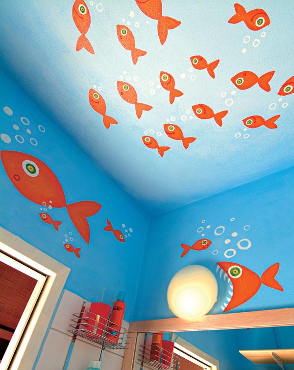 Kúpeľňa plná rybičiek