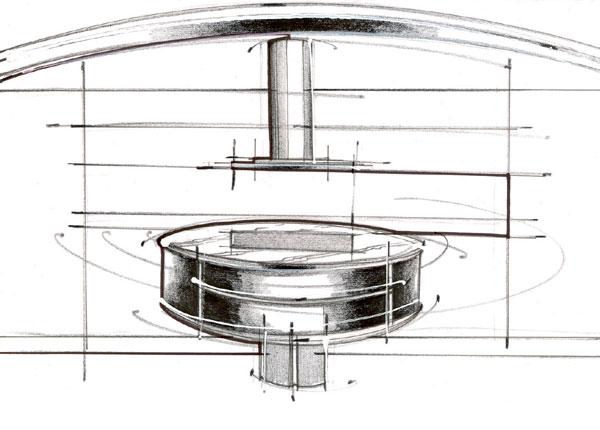 V znamení elipsy: Kuchyňa v retro sci-fi štýle