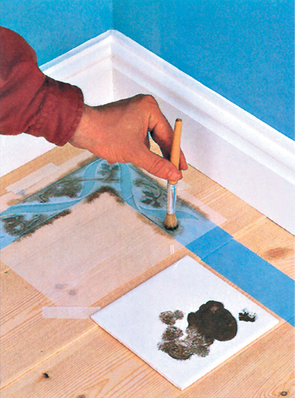 Maľovanie stien a dlážok cez šablóny